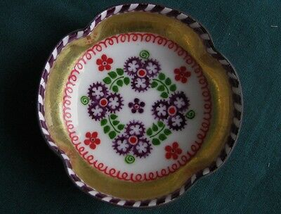 Handsome Hand Made Poljak of Austria Enamel on Copper Miniature Bowl NR