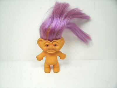 Vintage Unusual Weird Face Troll with Rooted Hair