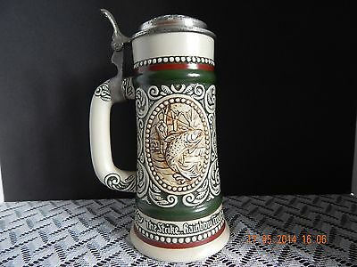 Avon 1978 Stein - Rainbow Trout/English Setter ~ Hand Crafted in Brazil