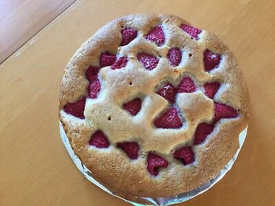 """Very Light And Delicious Raspberry Cake, 8""""Wide"""