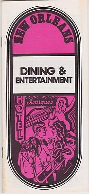 1970's New Orleans Dining & Entertainment Brochure