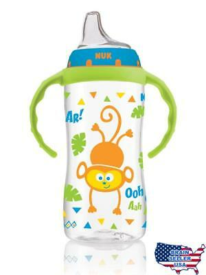 NUK Jungle Designs Large Learner Cup in Patterns, Boy, 10-Ounce, New, Free Ship