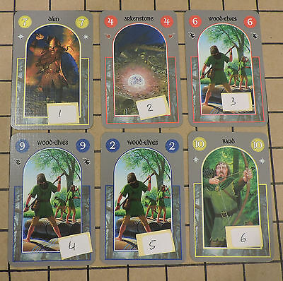 ANY 3 CARDS for $1.25 2012 The Hobbit Card Game Gaming Cards