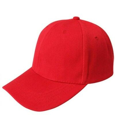 (Red) - Summer Caps,Sumen Canvas Sports Caps For Men Women Solid Colour