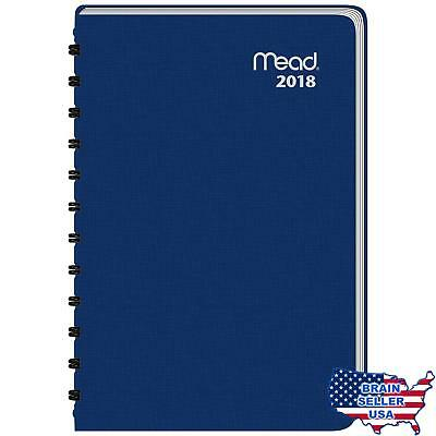 """Mead Daily Appointment Book / Planner, January 2018 - December 2018, 4-7/8"""" x 8"""""""