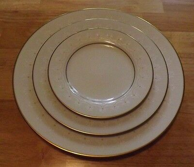 4 Pieces Noritake CALEDONIA 7091~ Dinner, Salad, 2 Bread Plates ~ MINT Condition