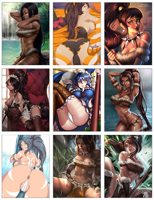 "LEAGUE OF LEGENDS - Nidalee 9-pc Stickers Set - 2.5""x3.25"" (PS4, XBOX, GAME)"