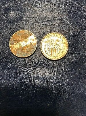 Lot Of Two United States Freedom Eagle Trade Token No Cash Value