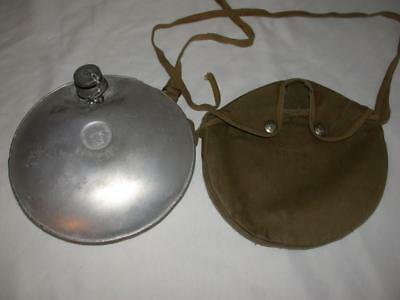 Vintage Boy Scouts Of America Canteen With Cover Mirror Aluminum