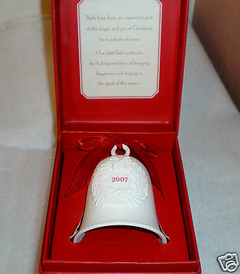 """2007 Hallmark Porcelain Collector Bell """"Ring in the Spirit of the Season"""" MIB"""