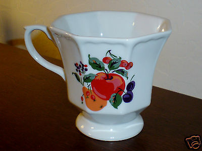 "Avon ""Fruit Design"" Footed Octagon Shape Coffee/Tea mug"