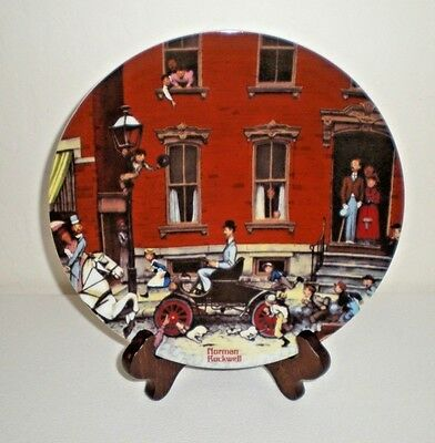 "1984 Norman Rockwell Ltd. Edt. Collector Plate ""Henry's First Ride"" Plate # 1207"