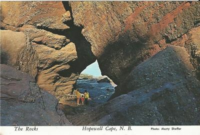"""Vintage collectible 4"""" x 6"""" POSTCARD The Rocks at Hopewell Cape in New Brunswick"""