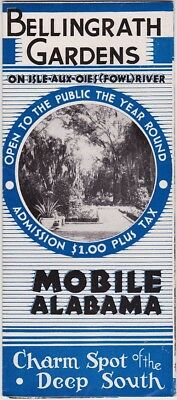 1940's Bellingrath Gardens Mobile Alabama Brochure