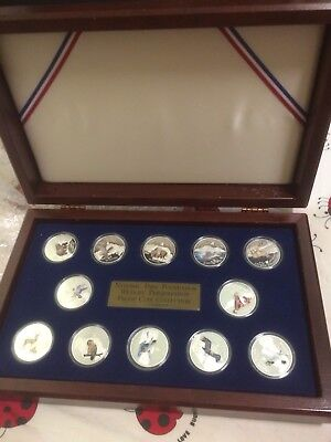 12pc 1996-98  Cook Islands US national park animal Silver Coin Set