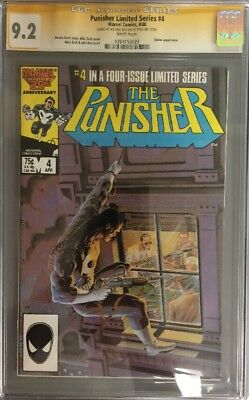 PUNISHER LIMITED SERIES #4 CGC SS 9.2 SIGNED ON 1st PAGE MICHAEL ZECK