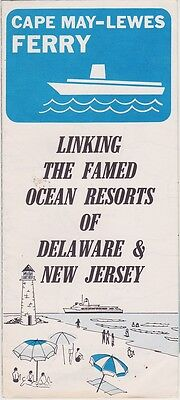 1960's Cape May - Lewes Delaware Ferry Brochure