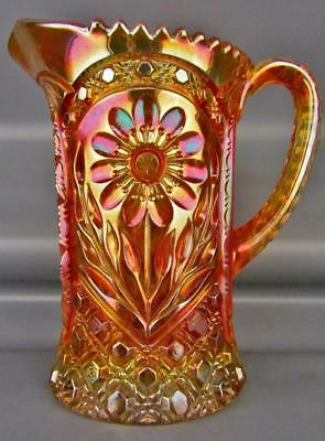 MODERN CARNIVAL GLASS - IMPERIAL 474 Re-Issue Marigold Water Pitcher 4251