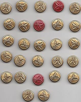 Vintage WW11 27 CD brass buttons