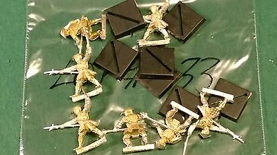 WOTC AEG Clan War metal spearmen warriors 7 clan ? bits lot #33 oop