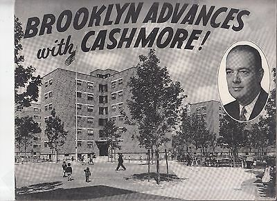 Vintage 1949 Brooklyn Advances with Cashmore booklet