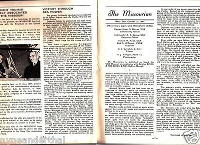 Vintage 1945 The Missourian magazine