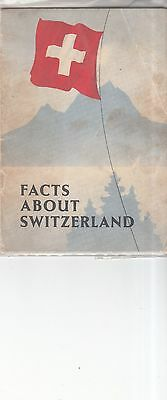 Vintage 1939 Facts about Switzerland booklet