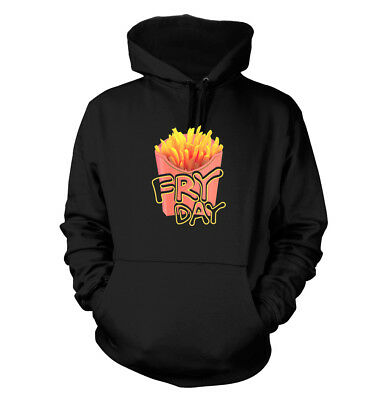 Fry Day #338 - Men's Hoodie - Funny Humor French Black Fries TGIF Friday