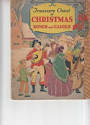 Vintage 1936 Treasure Chest of Christmas Carols and songs Booklet