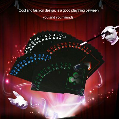 Foil Poker Waterproof PVC Plastic Playing Cards Set Classic Magic Tricks Tool G