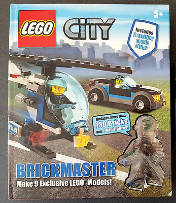 LEGO City Brickmaster, DK, Good, Hardcover 140 Pieces & 2 Mini Figures BOOK