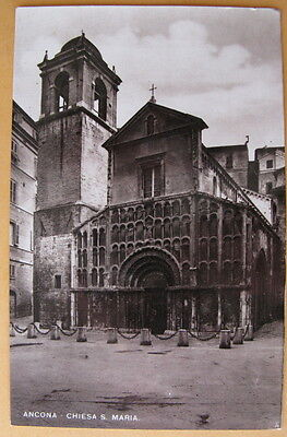 Vintage Post card, Italy - Ancona Chiesa S Maria - unmarked