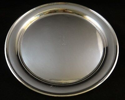 """Vintage Sterling Silver Tray. Frank Whiting Co. 8 ¼"""" dia. 5/8"""" tall.  Mono"""
