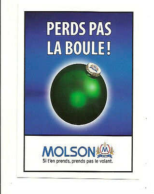 Molson Brewery Beer Breweriana Don't Drink And Drive Advertising Postcard