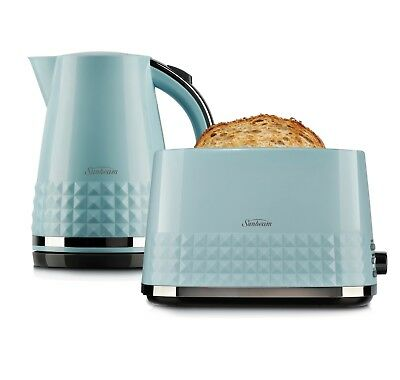 Sunbeam KE1900B TA1900B Diamond Collection Kettle Toaster Pack - Blue