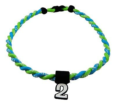 (Neon Green Light Blue) - Pick Your Number - Twisted Titanium Sports Tornado