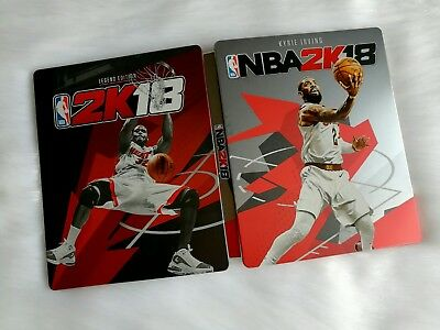 NBA 2k18 PS4 Limited Edition CD Case Kyrie Irving Shaq O'neal Cover
