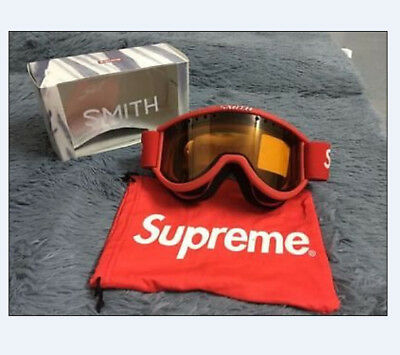 Free Shipping Supreme Ski Goggle Goggles Black/Red mask for skiing