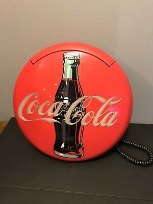 VINTAGE COCA COLA ROUND DISC TELEPHONE Wall or Desk 1996