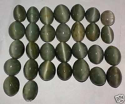 209.05 CT 30 Piece Green Cats Eye Awesome Quality 100% Natural Fabulous Gemstone