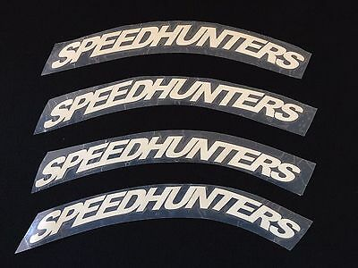 """TIRE LETTERS SPEEDHUNTERS -1,2"""" From 17"""" to 19'' Wheels 1 PCS"""