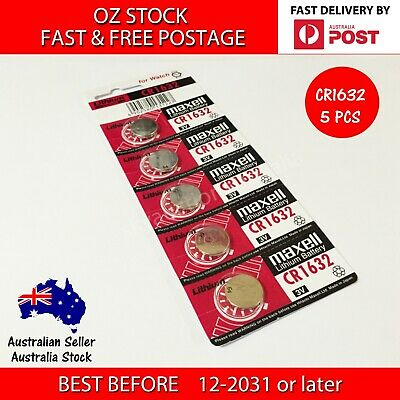 5x CR1632 3v lithium Battery button cell coin batteries - FAST POST - MELB STOCK