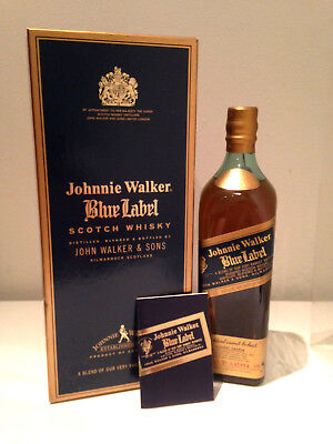 Johnnie Walker Blue Label RARE 1990's Bottle 750mL