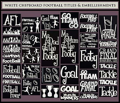 White Chipboard - Football Titles and Embellishments