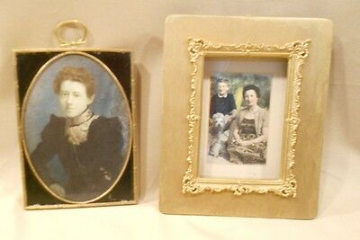 """Antique/vintage Picture Frames, Lot Of Two, 7"""" X 5-1/4"""", And 9"""" X 7-1/4"""""""