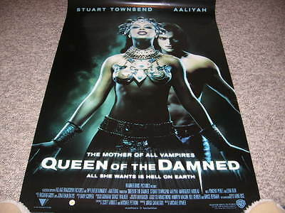 Queen Of The Damned Video Poster Vampires Aaliyah Stuart Townsend Perez Moreau