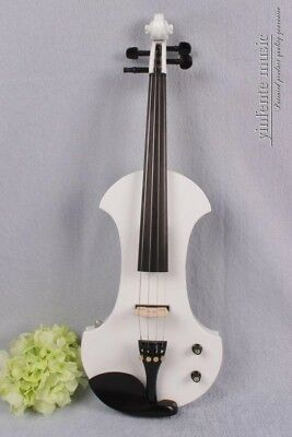 Electric Viola 4string 16inch Solid wood silence viola nice Sound White Color#19