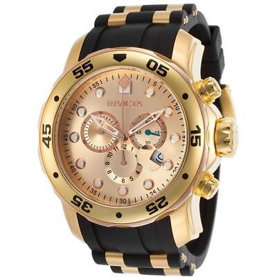 Invicta Mens  Pro Diver 18K Gold Ion-Plated Stainless Steel New Ships Free
