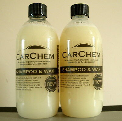 Car Chem Shampoo and Wax 2x 500ml bottles LC107