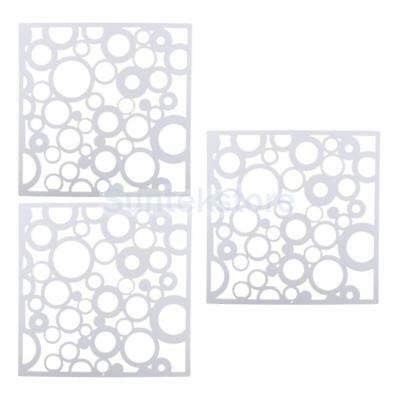 12pcs Hanging Room Divider Screen Space Partition Curtain Wall White Round